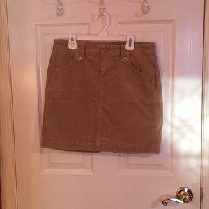 Old Navy khaki corduroy skirt